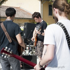 Former Life lors des balances au Glanum Rock Fest 2015.